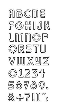 Alphabet Typo - Théâtre l'Echangeur Bagnolet on Behance.-Alphabet Typo – Théâtre l'Echangeur Bagnolet on Behance… – CoDesign Magazine Creative Lettering, Lettering Styles, Lettering Design, Logo Design, Graphic Design, Hand Lettering Alphabet, Typography Letters, Cool Letter Fonts, Number Typography