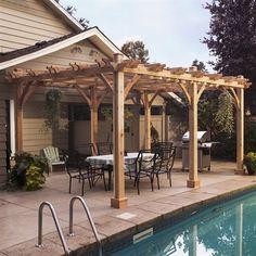 Outdoor Living Today BZ1220 12-ft x 20-ft Cedar Breeze Pergola