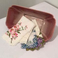 Set of 4 Vintage Handkerchiefs  Floral Hankies  by MyVintagePoint