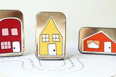Little travel doll house from mama may i on etsy. For creative play. I love this!