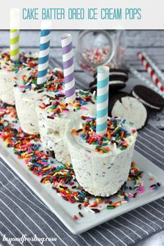 Cake Batter Oreo Ice Cream Pops… a delicious treat for summer!