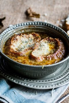 This French onion soup recipe, topped with oozy Gruyère toasts, is the ultimate in Autumnal comfort food.