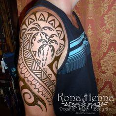 Organic Henna Products.  Professional Henna Studio. KonaHenna.com  #palmtree #tribal