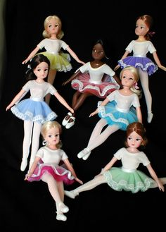 sindy dolls in tutus - I had/have the pink one. Not sure how much of the outfit is left!!