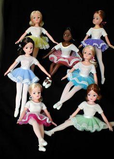 Sindy dolls in tutus.
