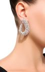 Yeprem's exquisite jewelry pieces are created for the influential women who wear them. Expertly crafted from 18K white gold in a hoop silhouette, these earrings are set with an array of round, marquise and pear diamonds that sparkle in the light. Style yours with sleek, pulled-back tresses.