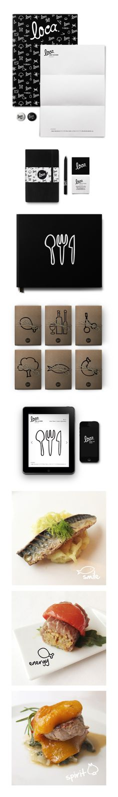 identity / food / restaurant / Loca. by iamcps #branding #design