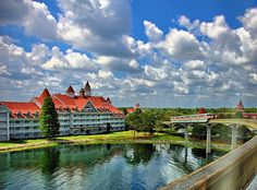 Disney - Grand Floridian and Monorail Coral As Seen From the Express Monorail - HDR (Explored) by Express Monorail, via Flickr