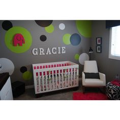 Baby room ideas | Modern Baby Girl's Nursery with a Fun Twist |... via Polyvore