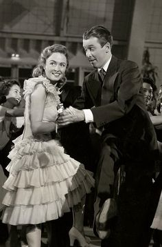 "IThe good old Charleston scene from ""It's a Wonderful Life"" starring Donna Reed and James Stewart."