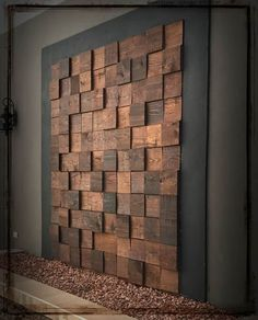- Home Improvement - Hier finden Sie Fotos mit Einrichtungsideen. - Home Improvement - Reclaimed Wood Sound Diffuser Acoustic Panel SoundProofing Wooden Wall Decor, Wooden Walls, Wall Wood, Wall Décor, Wall Mural, Pallet Walls, Patio Wall, Diy Holz, Into The Woods