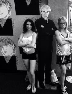 Pic with Andy Warhol stand-up cut out almost there Dali Museum, Florida