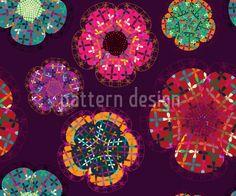 Blumen-Flicken mit verschiedenen Texturen.