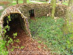 Tunnel of fun for a backyard hide away.
