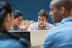 University students using laptop Royalty Free Stock Photo