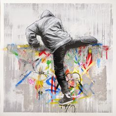 """Martin Whatson 25.5"""" x 25.5"""" paper/ 33"""" x 33"""" frame, 18 color screenprint on 300 gsm somerset paper, Signed and Numbered edition of 150."""