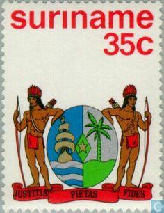 Timbres-poste - Suriname -,République - Indépendance Fictional Characters, Lady Justice