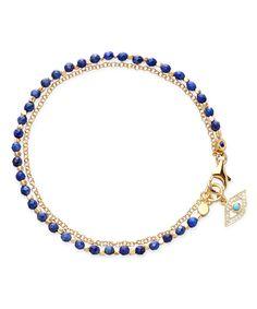 Astley Clarke gold evil eye bracelet
