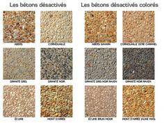 Béton désactivé ou béton lavé décoratif