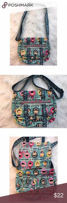 Harajuku Lovers Eskimo Kisses Crossover Bag Harajuku Lovers Eskimo Kisses Crossover Shoulder Messenger Bag.  Great Condition with some light wear on the white but not very noticeable. Harajuku Lovers Bags Crossbody Bags