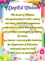 DepEd Mission, Vision and Core Values Posters Classroom Quotes, Classroom Bulletin Boards, Classroom Decor, Bullet Journal Books, Book Journal, Drug Free Posters, Bulletin Board Design, Mission Vision, Daily Lesson Plan