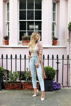 Stilettoları jeanlerle de kombinleyebilirsiniz.  En şık stilettoların adresi Delisiyim.com! #outfit #jean Going Out Outfits, Going Out Dresses, Going Out Hairstyles, Going Out Tops, White Beige, Jean Outfits, Pink Dress, Zara, Clothes