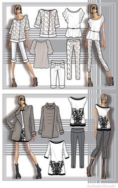 Continuamos mostrando ejemplos de diseño de moda por ordenador con diseños de Hisako Hirouchi creados con Adobe Illustrator http://concurso.disenodemoda.com #inspirate #participa #ConcursoDiseñoDigitalMODA