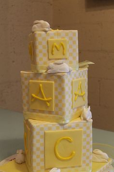 french country baby blocks by Tammie Coe Cakes http://www.tammiecoecakes.com
