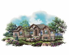 Eplans French Country House Plan - European French Rambler - 2407 Square Feet and 3 Bedrooms from Eplans - House Plan Code HWEPL75149