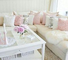 Rosa Kissen Gegen Hellblaue Tauschen (Furniture Designs Shabby Chic)