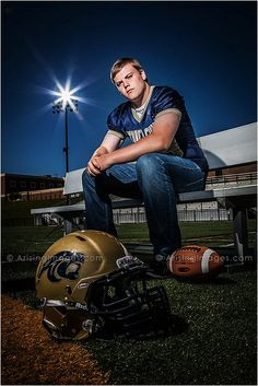 Epic senior pictures for this sport star. Best photography in michigan. #football #seniors #sports #cool ArisingSeniors.com