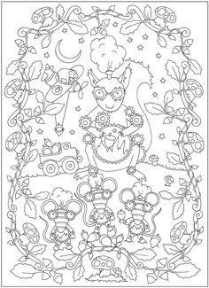 Creative Haven Curious Creatures Coloring Book: Dover Publications Sample Dover Coloring Pages, Animal Coloring Pages, Adult Coloring Pages, Coloring Sheets, Creative Haven Coloring Books, Curious Creatures, Doodles Zentangles, Color Activities, Coloring Pages For Kids