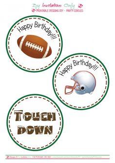 Football birthday printables