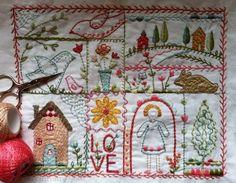 cedar ridge stitching embroidery sampler by charlottelyons on Etsy, $11.00