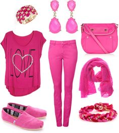 """""""Pink Day"""" by caityquirk on Polyvore"""