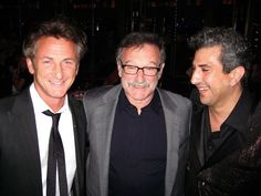 Sean Penn, Robin Williams and Frank Ferrante at Teatro ZinZanni for a fundraiser in 2010. @ Catherine Bigelow, Special To The Chronicle
