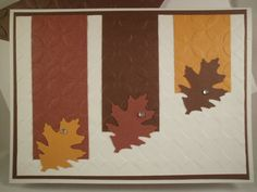 Three Leaves Handmade Thanksgiving Card by ComingUpCrafts