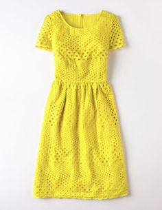 Pretty Eyelet Dress (Mediterranean Blue)