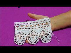 Çeyizlik uç danteli havlu kenarı yapılışı&crochet - YouTube Crochet Lace Edging, Crochet Flower Patterns, Filet Crochet, Easy Crochet, Crochet Flowers, Knit Crochet, Crochet Blocks, Learn To Crochet, Diy And Crafts