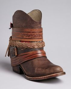 FREEBIRD by Steven Western Booties - Mezcal Strapped | Bloomingdale's - in TX now so why not right?