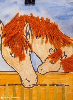 детская поделка лошади