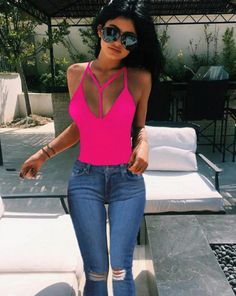 Womens Tops Fashion Ladies Sexy Casual Sleeveless strap V-Neck Tank Kylie Jenner Sexy Summer Beach Wear Fashion camis