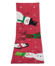 Look at this Winter Whimsy Wool-Blend Table Runner on #zulily today!
