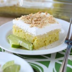 Easy Key Lime Poke Cake