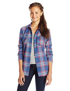 Derek Heart Junior's Long Sleeve Flannel Plaid Tunic Top, Blue Ammo, Medium Derek Heart http://www.amazon.com/dp/B010C95LK2/ref=cm_sw_r_pi_dp_GOWjwb1QMKQW4