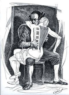 Mujer acordeón- accordion women