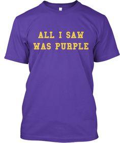All I Saw Was Purple.  USC QB Todd Marinovich's contribution to Husky history.