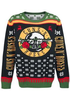 Kersttrui Metal.Guns N Roses Christmas Holiday Sweater Jumper Christmas Jumpers