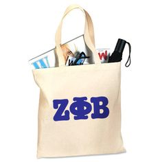 Zeta Phi Beta Sorority Printed Budget Tote $15.95 #ZetaPhiBeta #Greek #sorority #Zeta #accessory #accessories #tote #bag
