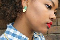 Kitsch Sparkly Pineapple Earrings